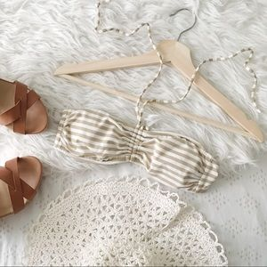 Sparkly Gold and White Halter Bikini Top